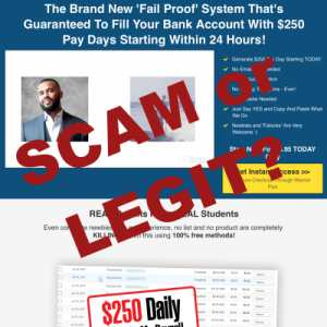 Is $250 Online Every Day A Scam Or Legit?