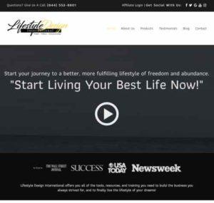 Lifestyle Design International homepage
