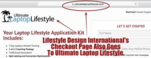 Lifestyle Design International's checkout page