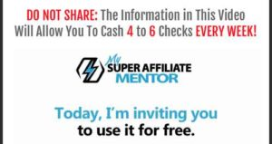 My Super Affiliate Mentor Sales Video
