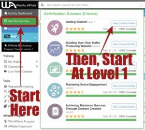 Online Entrepreneur Certification course Level 1 at Wealthy Affiliate