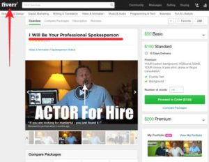One Click Pay Day Fiverr Actor Godfather