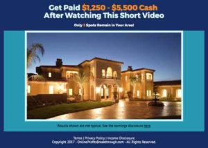 Online Profits Breakthrough sales video