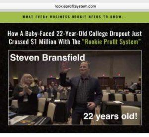 Rookie Profit System Sales Page