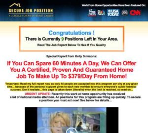 Simple Income Strategies home page compared