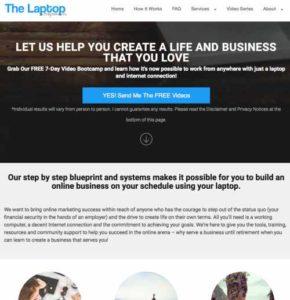 The Laptop Entrepreneurs home page