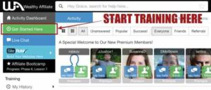 Wealthy Affiliate Tips - Green button