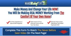 Cash Relief Now Sales Page