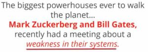 Facebook Cash System Zuckerberg and Gates