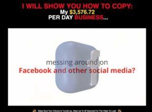 Facebook Cash System sales page
