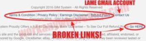 GIM System Broken Links