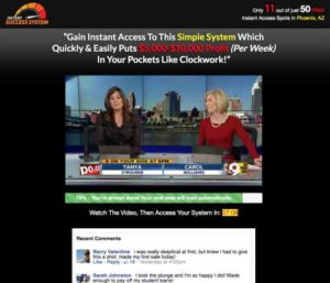 Instant Success System Home Page Sales Video