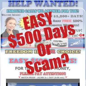 Is Best Easy Work A Scam Or Easy $500 Days?