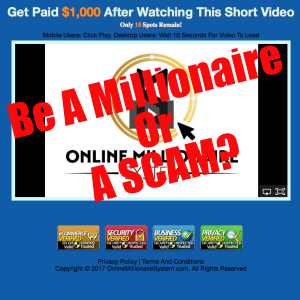 Is One Millionaire System a scam?