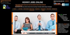 Mommy Jobs Online Home Page