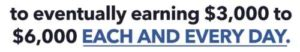 My Online Dream Biz Income Claims of Earning $3000-$6000 a day