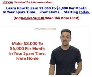 My Online Dream Biz home page