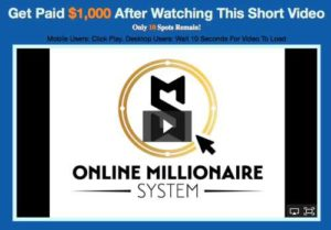 One Millionaire System Sales page