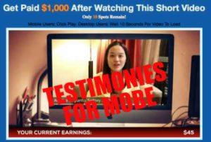 One Millionaire System Testimonies for MOBE