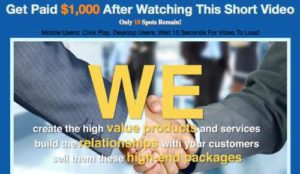 One Millionaire System high ticket products