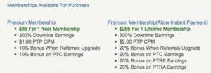 Seven Dollar PTC Premium Memberships