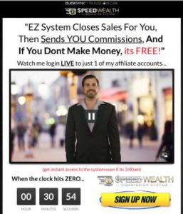 Speed Wealth System sales page