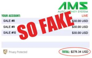 The Auto Money System Fake Account Live Results