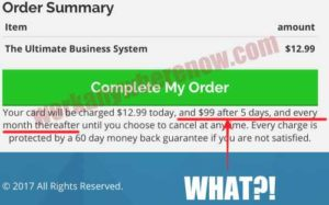 The Ultimate Business System Sneaky Monthly Payments
