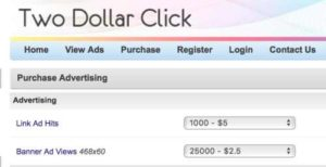 Two Dollar Click Pay To Advertise