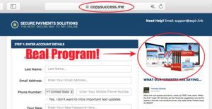 Copy Success checkout goes to Aspire