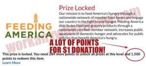 DailyBreak Feeding America 1500 points for $1