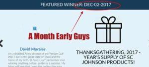 DailyBreak Wrong Date for Winner