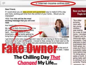 Internet Income Online Fake Owner Kelly Simmons