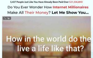 Internet Millionaire Coach Home page sales video