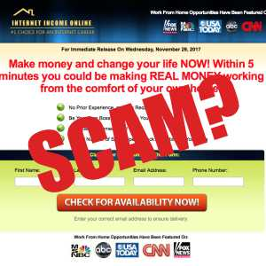 Is Internet Income Online A Scam?
