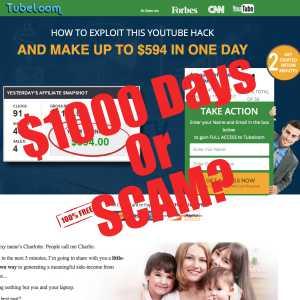 Is TubeLoom A Scam or Legit $1000 days?