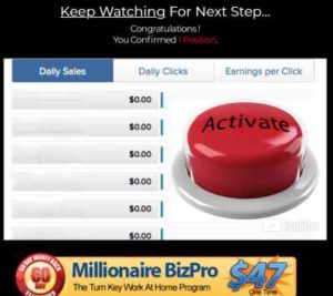 Millionaire BizPro Push Button System Is FAKE