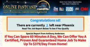 Online FastCash Sales Page