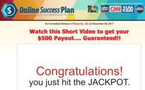 Online Success Plan Sales Video