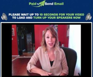Paid To Send Email Home page sales video