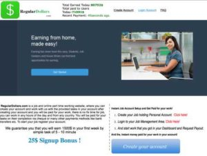 Regular Dollars Home page
