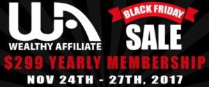 Wealthy Affiliate Black Friday Sale 2017