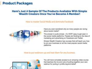 Simple Wealth Creators Products
