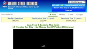 Wealth Start Business Home Page