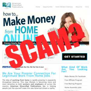is American Diversified Publications (easywork-greatpay.com) a scam