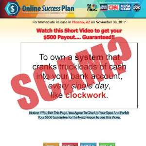 is Online Success Plan a scam