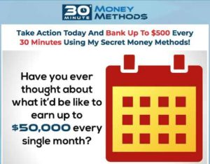 30 Minute Money Methods Sales page video