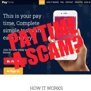 Is PayTime.top A Scam