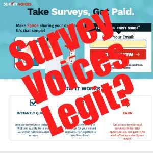 Is Survey Voices Legit?