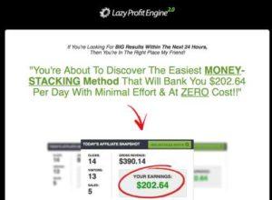 Lazy Profit Engine 2.0 Sales page